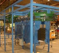 overhead oven curing line